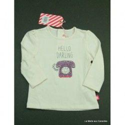 NEUF- T-shirt ML Billieblush 6 mois