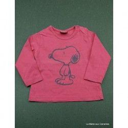 T-shirt ML Snoopy 6 mois