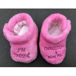 NEUF- Chaussons 0/3 mois